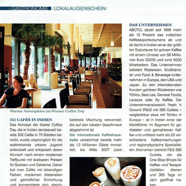 PRESSE - COFFEE DAY - A3-GAST - 25. Oktober 2006 - Seite 124