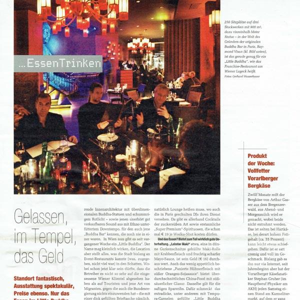 PRESSE - LITTLE BUDDHA - Standard-Rondo - 25. Jänner 2008 - Seite 20