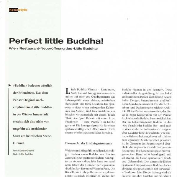 PRESSE - LITTLE BUDDHA - architektur HOTELSTYLE - Mai 2008 - Seite 30-35