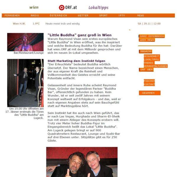 PRESSE - Little Buddha ganz groß in Wien - Wien-Magazin