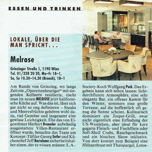 PRESSE - MELROSE - Kronen Zeitung - vom 14. Juni 2015 - Seite 72