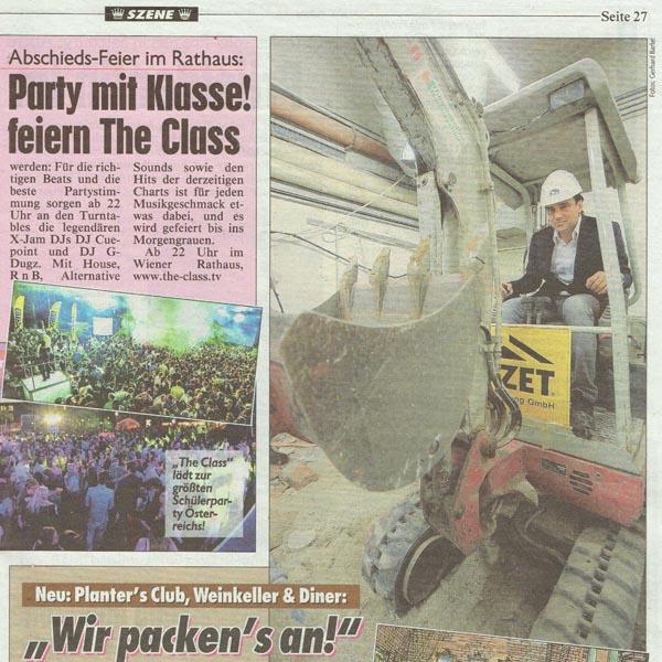PRESSE - PLANTERS - Kronen Zeitung - 1. Oktober 2013 - Seite 27