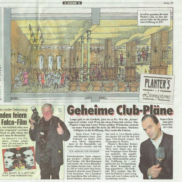 PRESSE - PLANTERS - Kronen Zeitung - 22.Februar 2012 - Seite 25